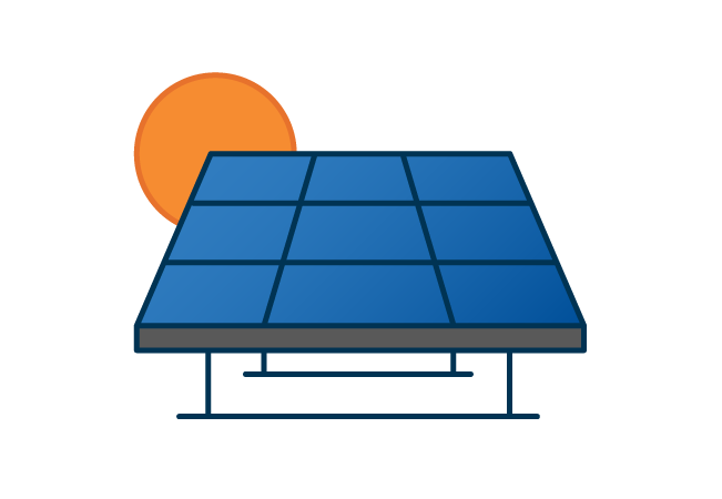 Solar panels graphic