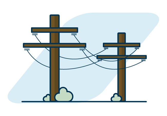 Power lines graphic